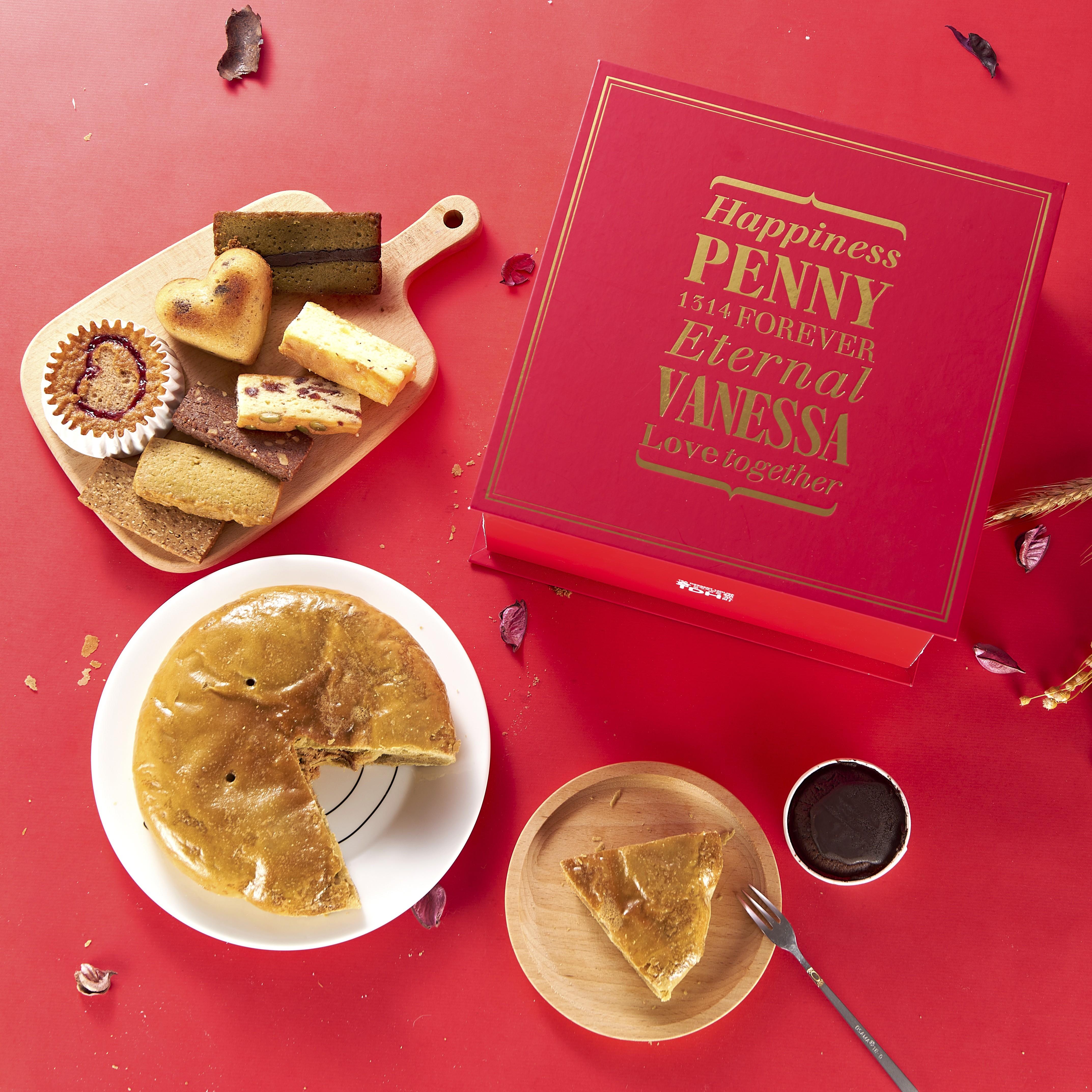 客製化手工喜餅禮盒(雙層)含中式大餅